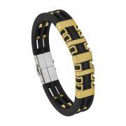 Pulseira de Aço Convex ENIGMA Gold Caucciu 13mm 2700674