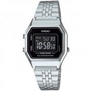 Relógio Casio Vintage Prata Unissex LA680WA-1BDF