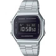 Relógio Casio Vintage Espelhado Preto Unissex A168WEM-1DF