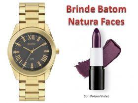 Relógio Euro Feminino EU2036YND/4C + Brinde Batom Natura Faces