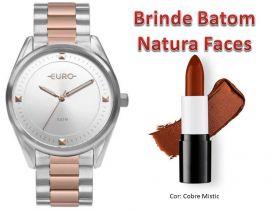 Relógio Euro Feminino EU2036YOB/5K + Brinde Natura Batom Faces