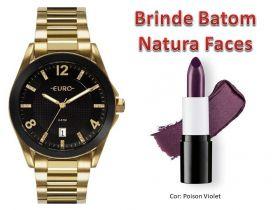 Relógio Euro Feminino EU2315HM/4P + Brinde Batom Natura Faces