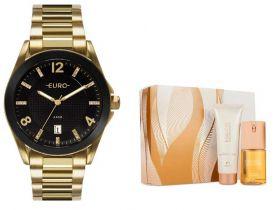 Relógio Euro Feminino + Presente Natura Essencial Floral