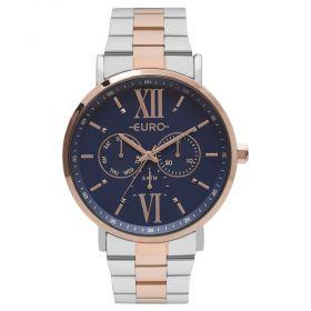 Relógio Euro Metallics Bicolor Prata e Rose Feminino EU6P29AHBBP/5A