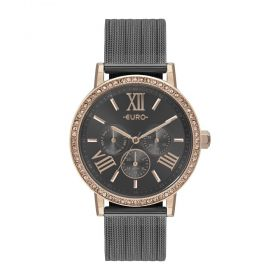 Relógio Euro Multiglow Party Rose e Preto Feminino EU6P29AHK/5F