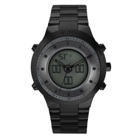 Relógio Euro Sporty Lux Preto Feminino EUBJ3889AC/4P