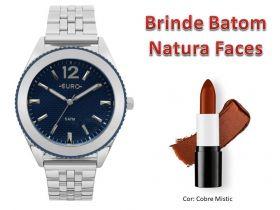 Relógio Feminino Euro + Brinde Batom Natura Faces