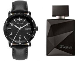 Relógio Masculino Technos + Perfume Essencial Exclusivo