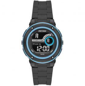 Relógio Mormaii Wave Preto / azul Unissex MO8740AB/8A