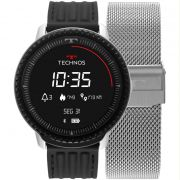 Relógio Smartwatch Technos Connect ID Prata / Preto Unissex L5AB/4P