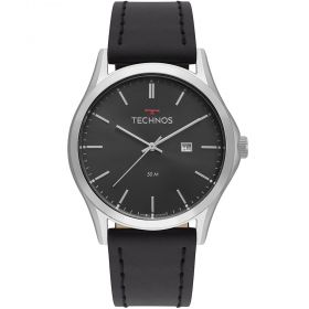 Relógio Technos Clasic steel Couro Masculino 2115MSG/0P