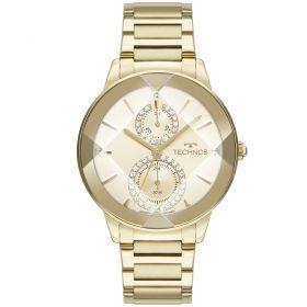 Relógio Technos Crystal Dourado Feminino 6P73AF/1X
