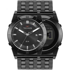 Relógio Technos Curvas Digital e Analógico Masculino 1S13CR/4P