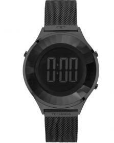 Relógio Technos Digital Crystal Preto Feminino BJ3851AE/4P