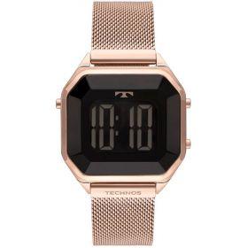Relógio Technos Digital Crystal Rose Feminino BJ3851AK/4P