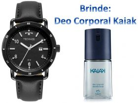 Relógio Technos Masculino + Brinde Deo Corporal Kaiak
