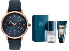 Relógio Technos Masculino + Presente Natura Homem Essence