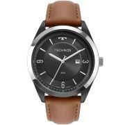 Relógio Technos Steel Couro Masculino 2117LBP/5C