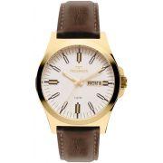 Relógio Technos Steel Couro Masculino 2305AZ/2B