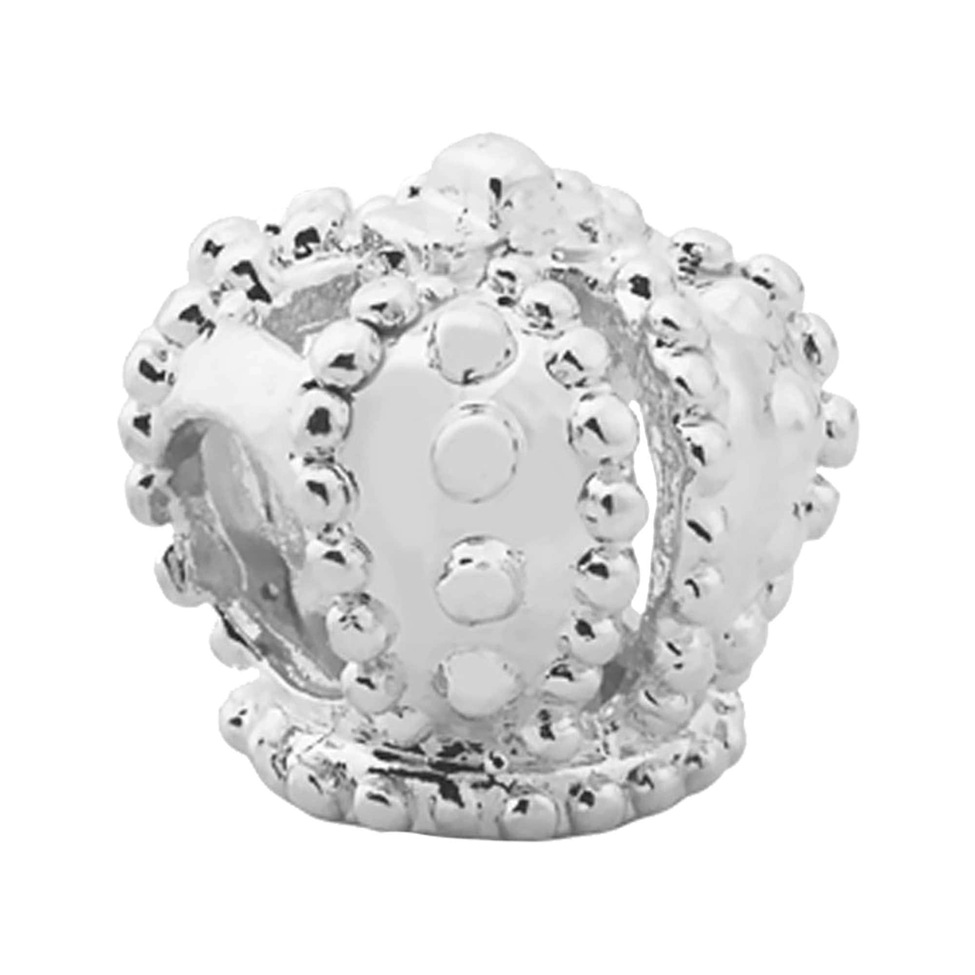 Berloque Separador de Prata Coroa 3491001