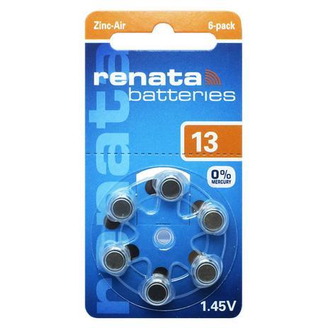 Cartela com 6 Pilhas 13 Renata Baterias Auditiva Pr48