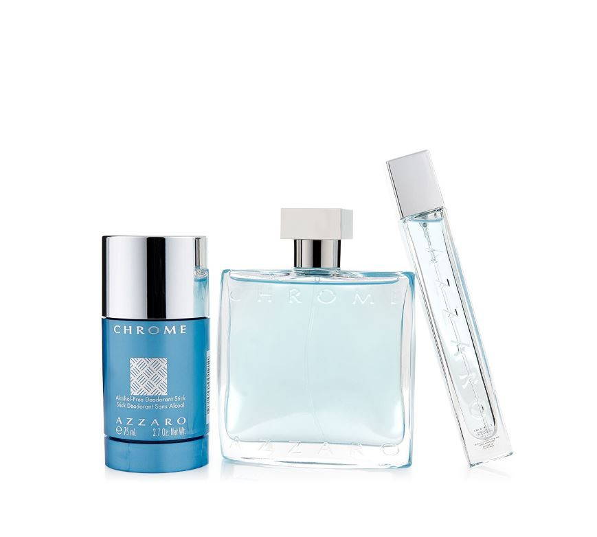 Coffret Azzaro Chrome Masc. EDT 100ML + Mini 15ML + Deo Stick 75ML