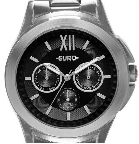 Relógio Euro Spike Fever Power Prata Feminino EU6P29AGZ/3P