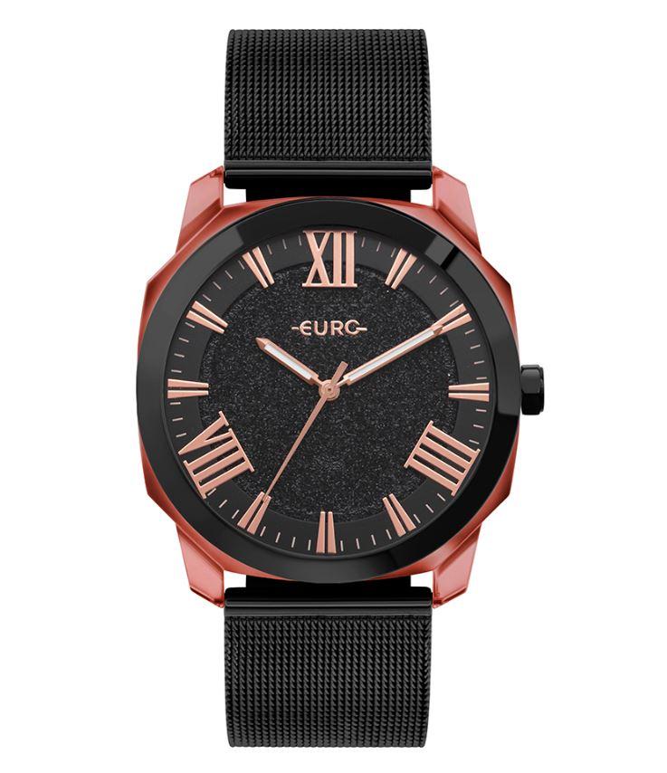 Relógio Feminino Euro Collection Preto EU2035YSS/7P