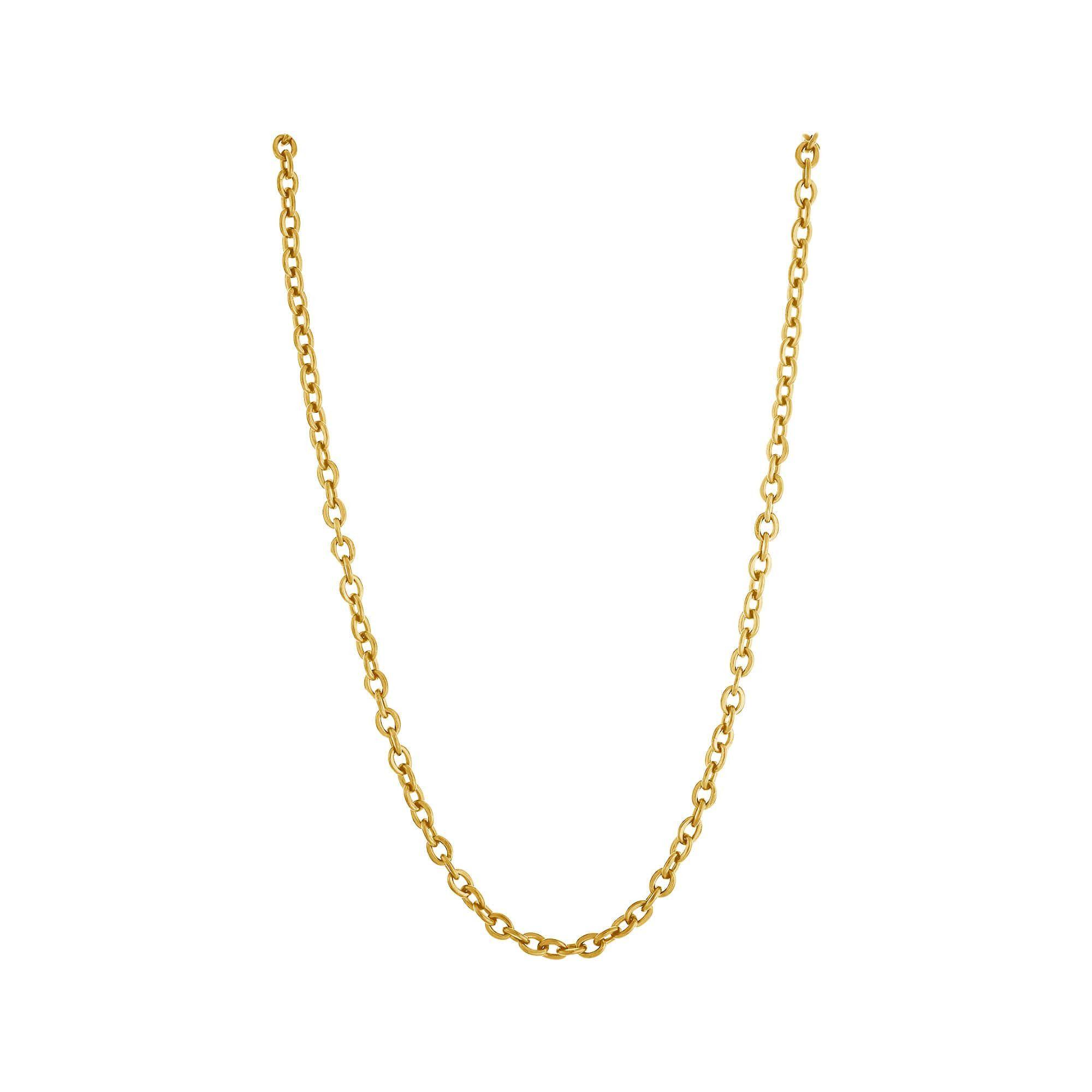 Corrente Aço Dourado (IPG) Cartier Elos Ovais 60cm Dourada 2830160