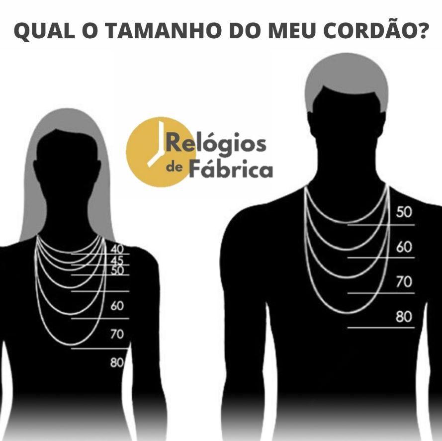Escapulário Aço N. Sra. do Carmo / Santo Antônio 60cm 2678860