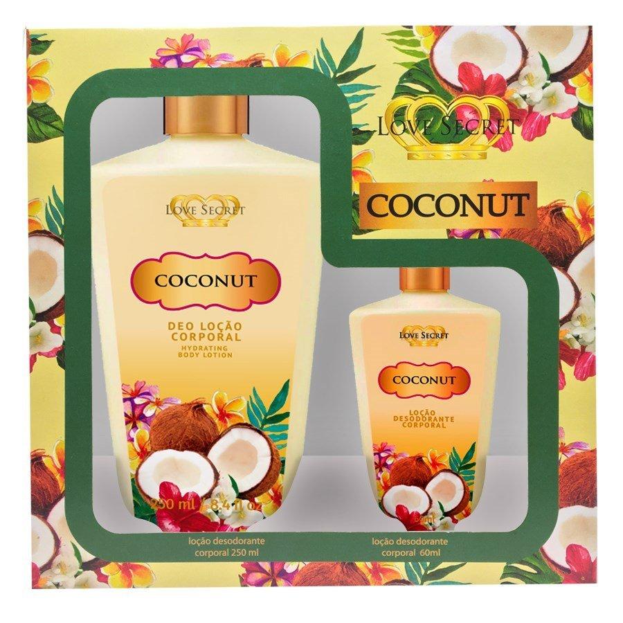 Kit Love Secret Body Lotion Coconut 250ml + 60ml