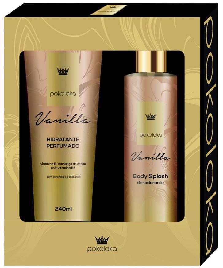 Kit Pokoloka Hidratante Vanilla 240ml + Body Splash 250ml