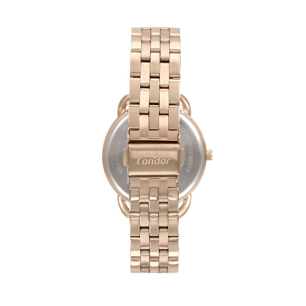 Kit Relógio Condor Feminino Rose + Pulseira CO2035MUP/K4J