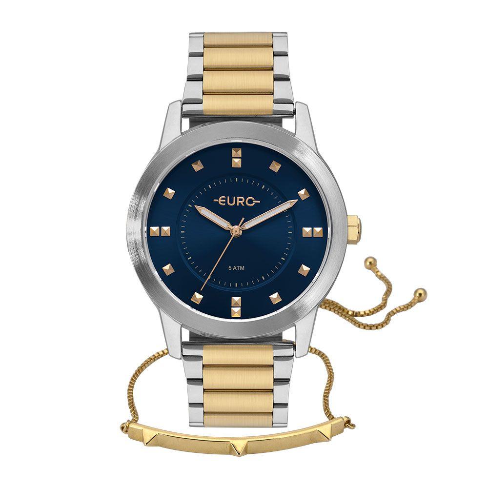 Kit Relógio Euro Casual Style Bicolor Feminino EU2039JO/K5A