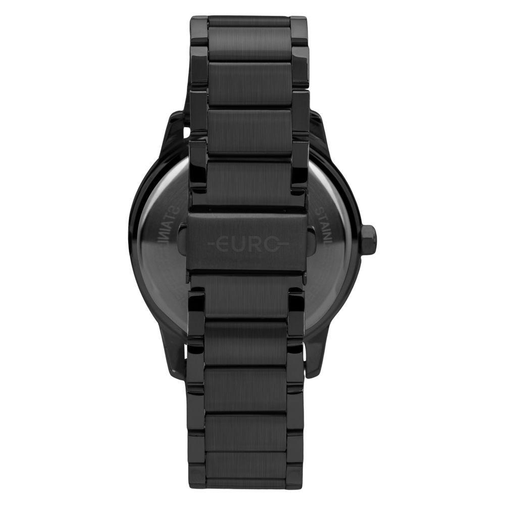 Kit Relógio Euro Casual Style Preto Feminino EU2039JQ/K4P