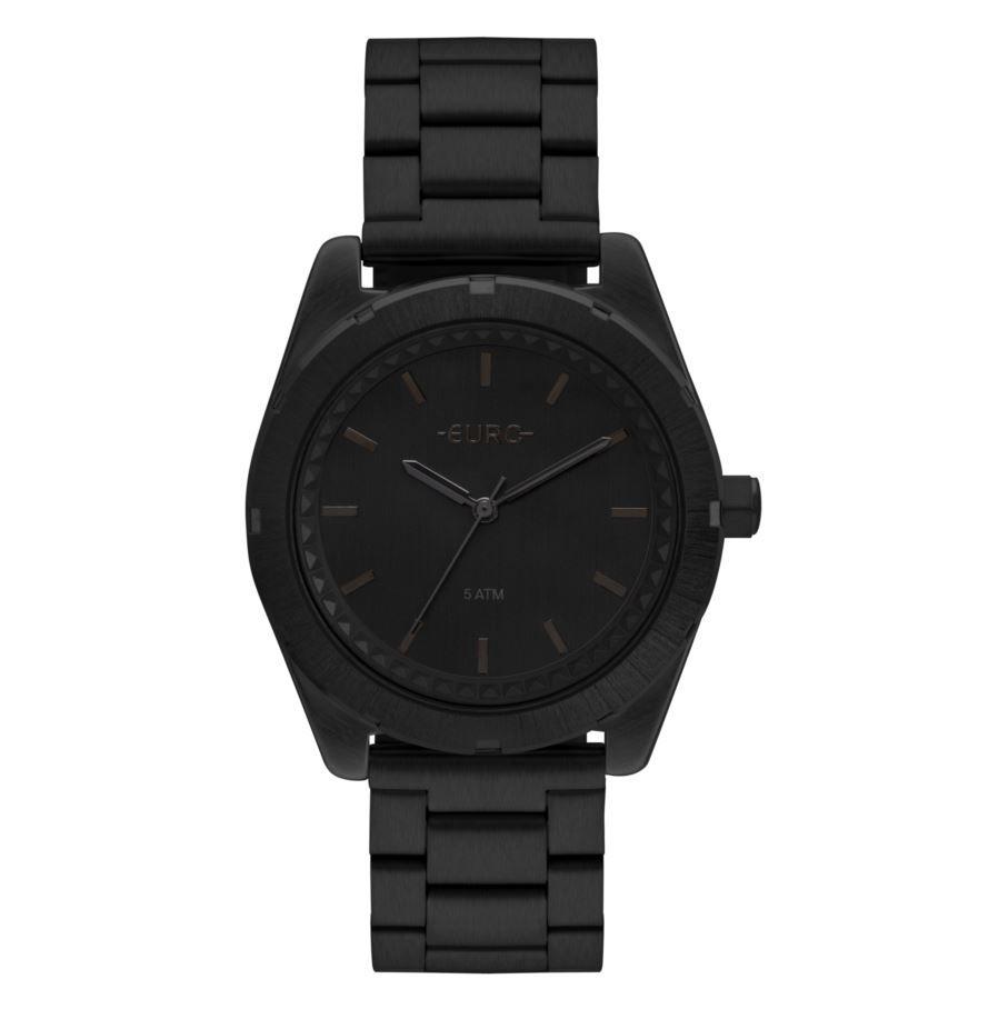 kit Relógio Euro Preto Feminino + Brincos EU2036YNX/4P