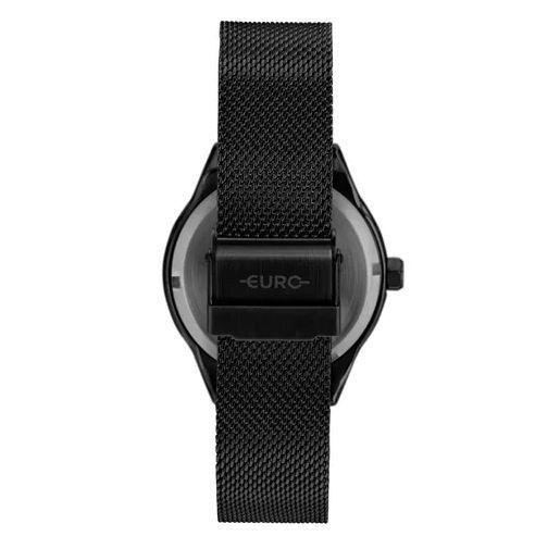 Kit Relógio Euro Spike Glow Preto Feminino EU2035YRG/K4P