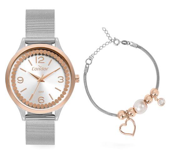 Kit Relógio Feminino Condor COPC21AEBY/K4K