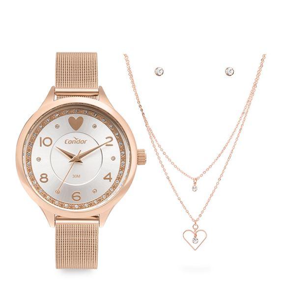 Kit Relógio Feminino Condor Rose COPC21AECC/K4J