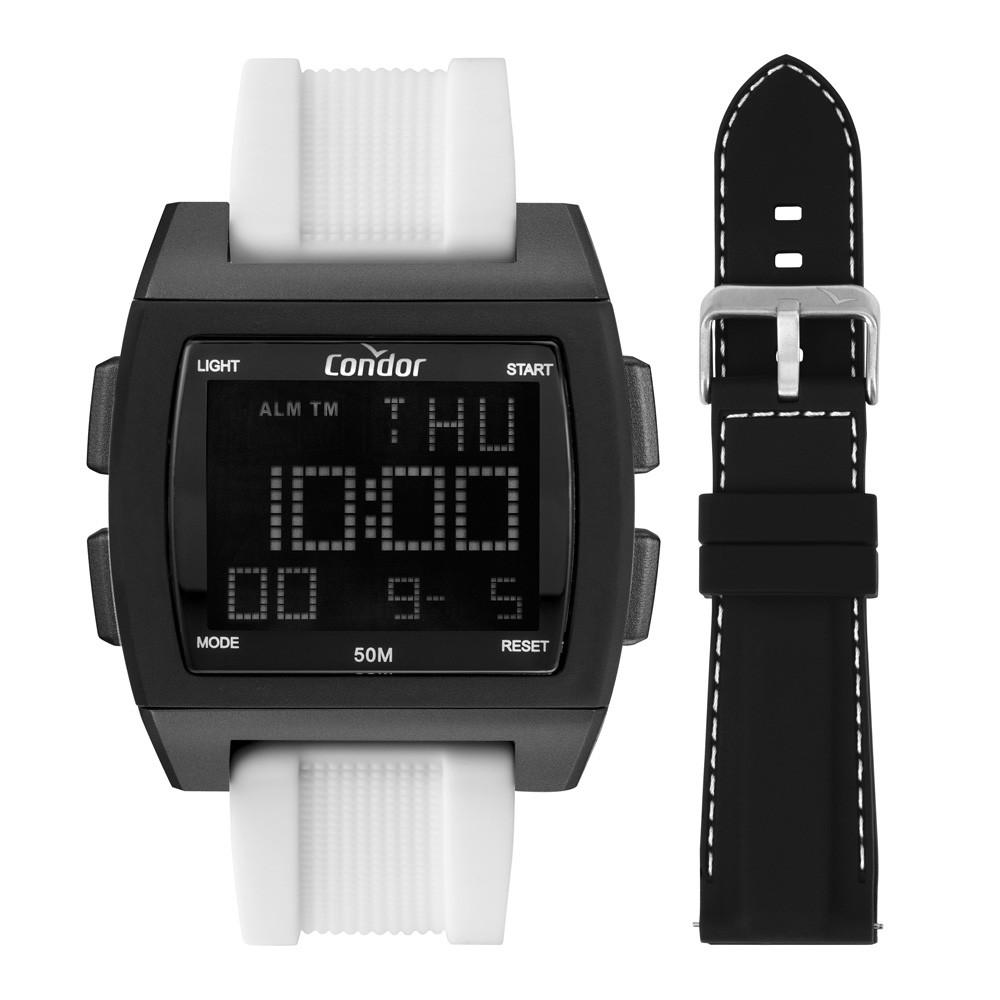 Kit Relógio Masculino Condor Troca Pulseiras Digital COBJ2649AK/T6P
