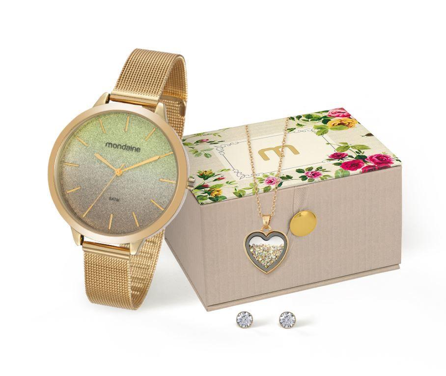 Kit Relógio Mondaine Feminino 53618LPMKDE1K1