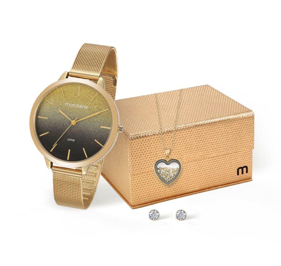 Kit Relógio Mondaine Feminino 53618LPMKDE2K1