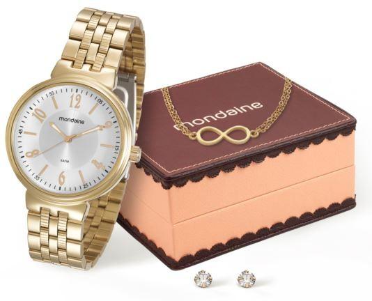 Kit Relógio Mondaine Feminino 94972LPMVDE1K3