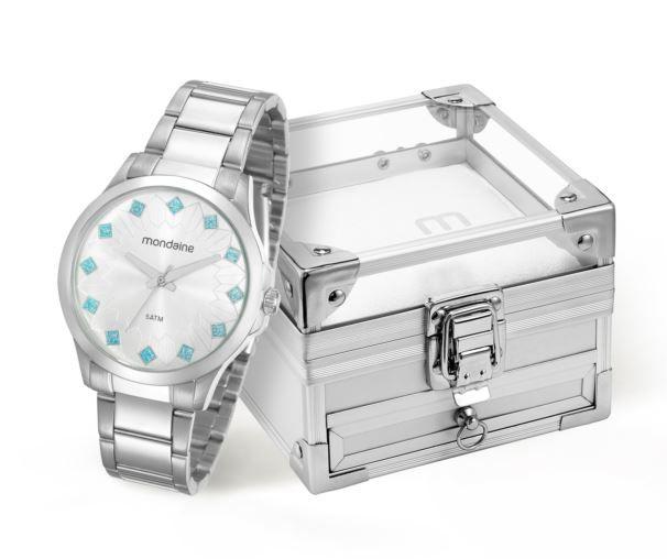 Kit Relógio Mondaine Feminino Caixa de Jóias 53549L0MKNE1K2