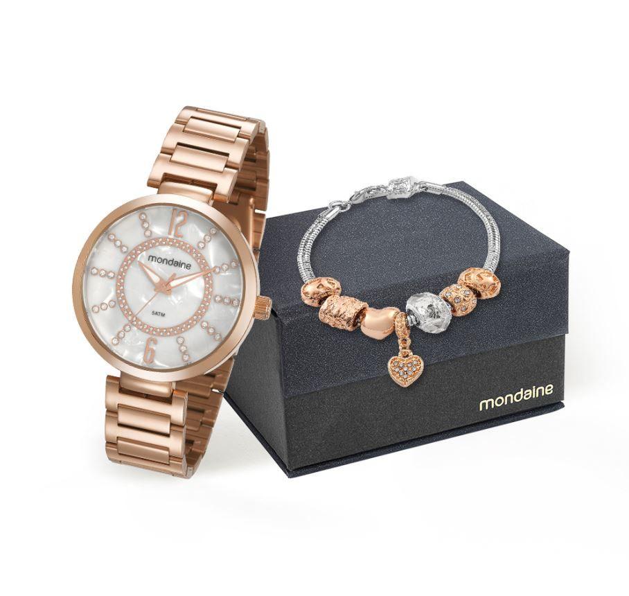 Relógio Mondaine Feminino Rose 53617LPMKRE4K1