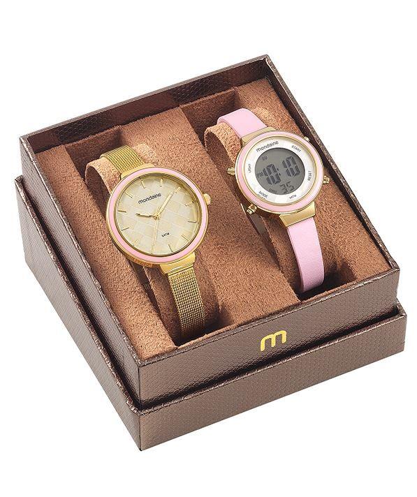 Kit Relógio Mondaine Feminino Tal Mãe Tal Filha 53639LPMVDE1