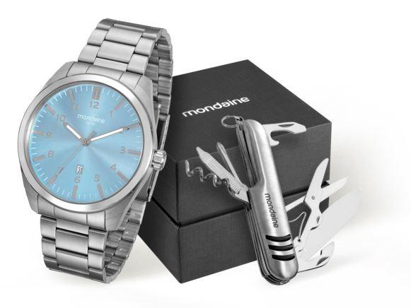 Kit Relógio Mondaine Masculino 94969G0MVNA1K1