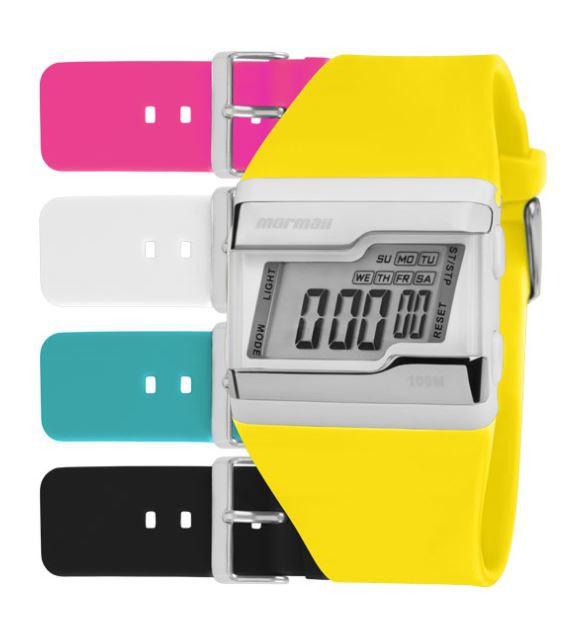 Kit Relógio Mormaii Troca Pulseiras Digital FZCA/T8A