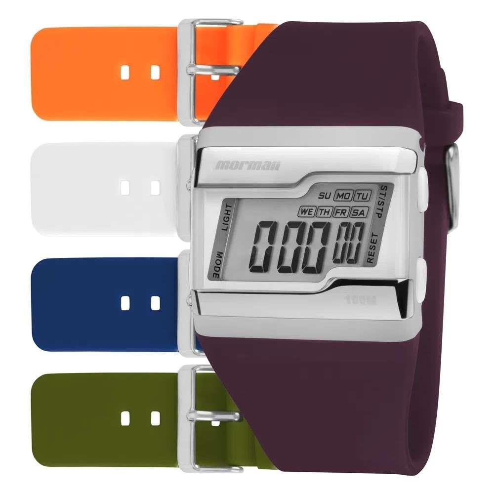 Kit Relógio Mormaii Troca Pulseiras Digital FZCAB/T8B