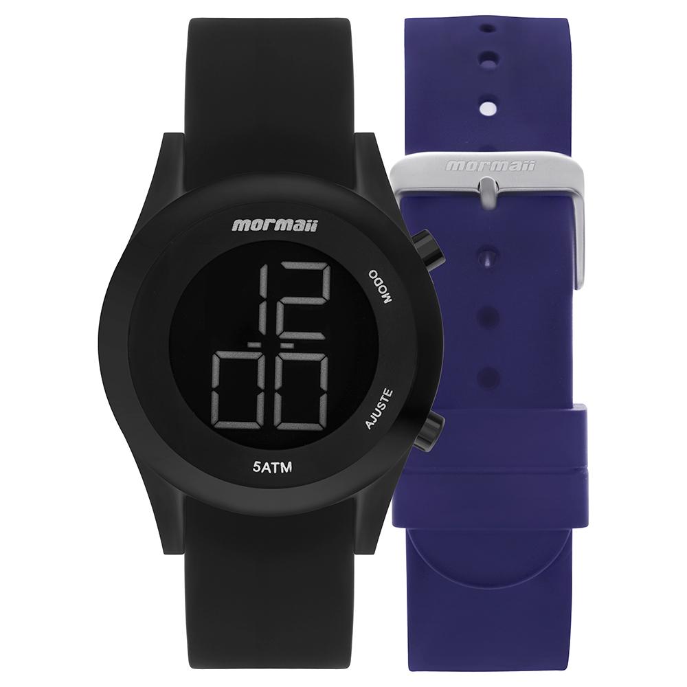 Kit Relógio Mormaii Troca pulseiras MOMD1201AC/T8A